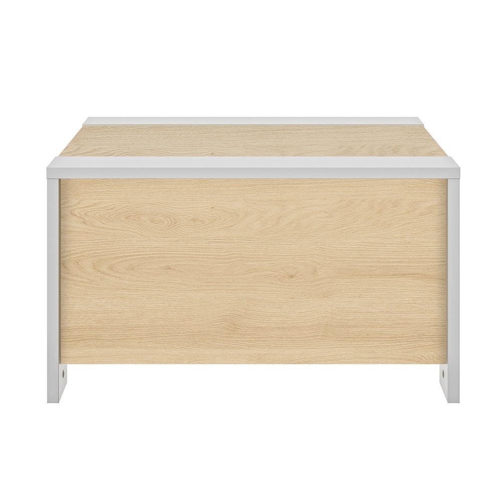 Table Basse Avec Coffre 78x78x44 Cm Decor Chene Et Blanc Maison Et Styles