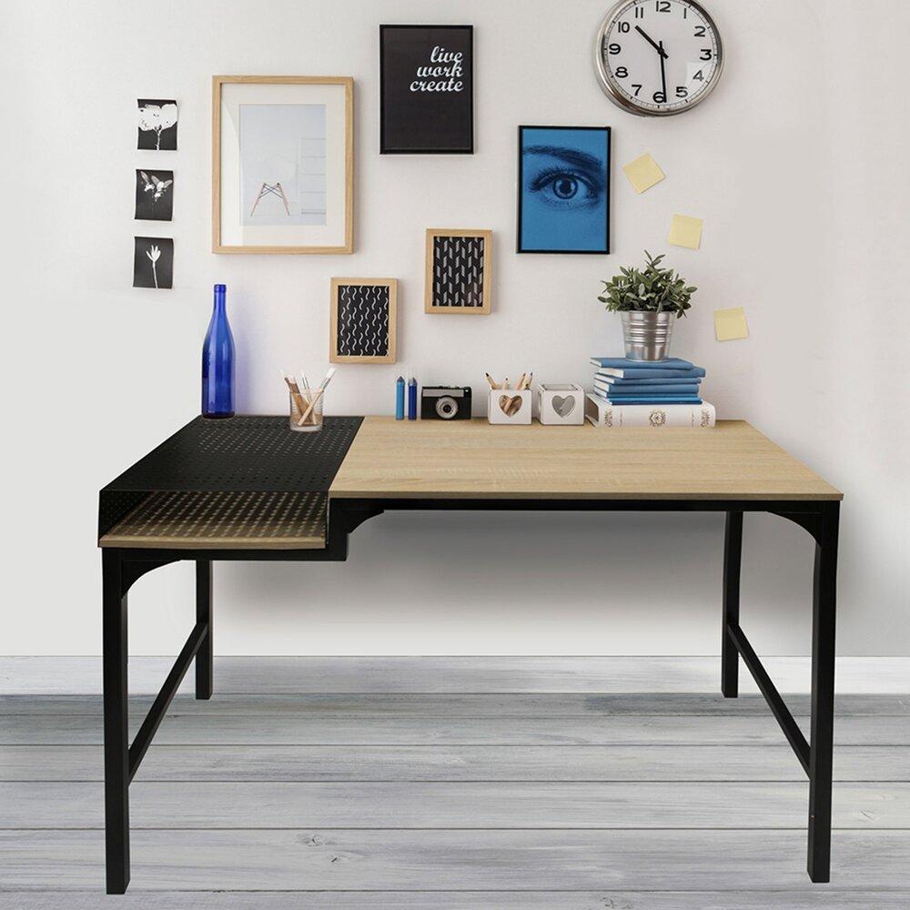 Bureau 100x50x75 5 Cm En En Bois Et Metal Noir Maison Et Styles