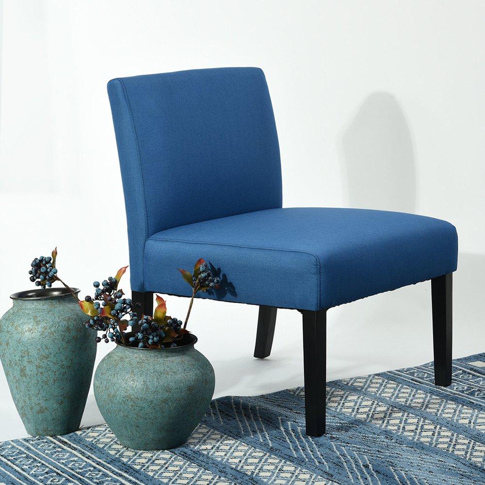 Fauteuil - Fauteuil 64,5x70x84,5 cm en tissu bleu photo 1