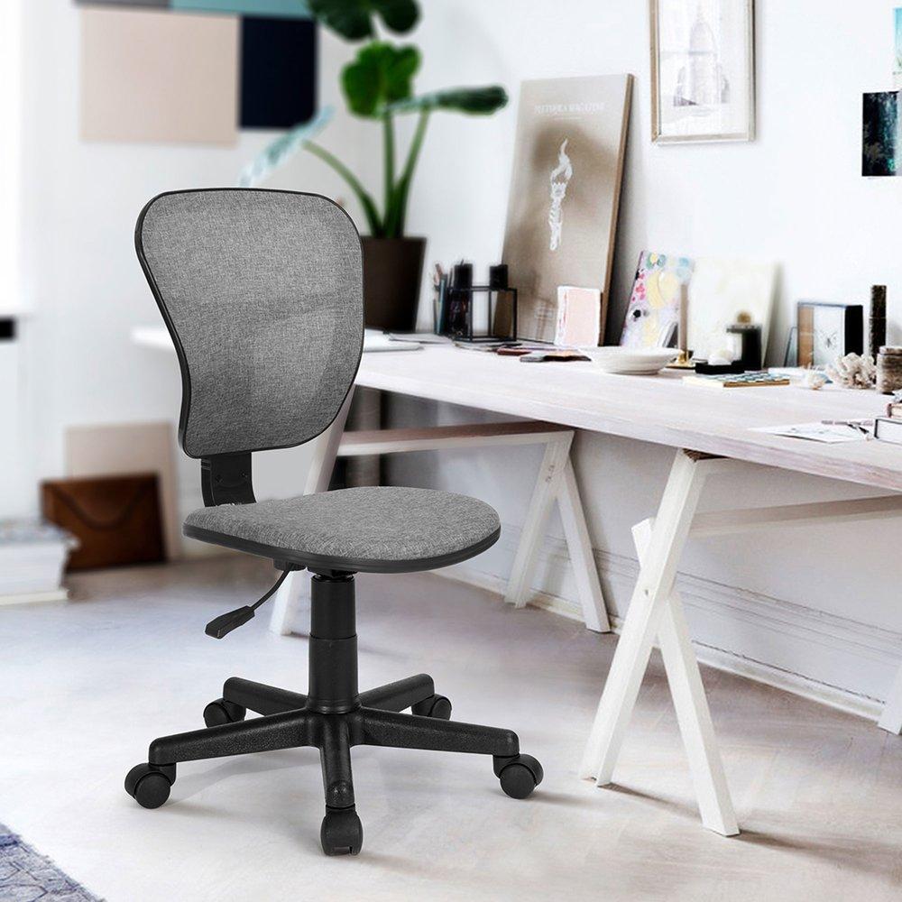 Fauteuil de bureau - Chaise de bureau en tissu gris - BRONTY photo 1