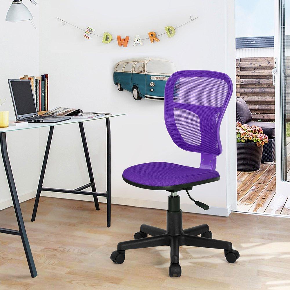 Fauteuil de bureau - Chaise de bureau en tissu violet - BRONTY photo 1