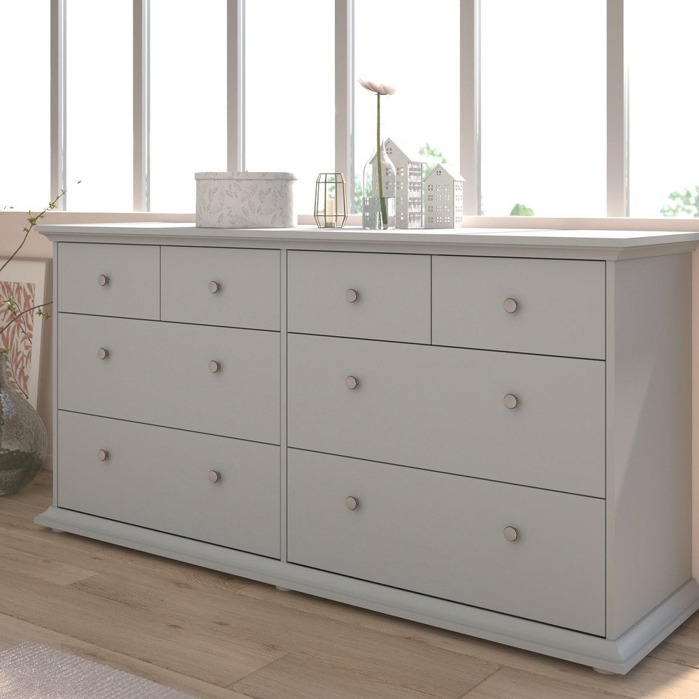 Commode - Coiffeuse - Commode 8 tiroirs 152 cm grise - SHALLO photo 1