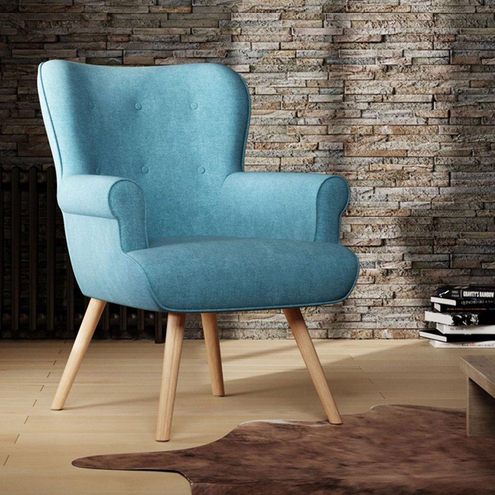 Fauteuil - Fauteuil 87x75x97 cm en tissu suédine turquoise - TANIA photo 1