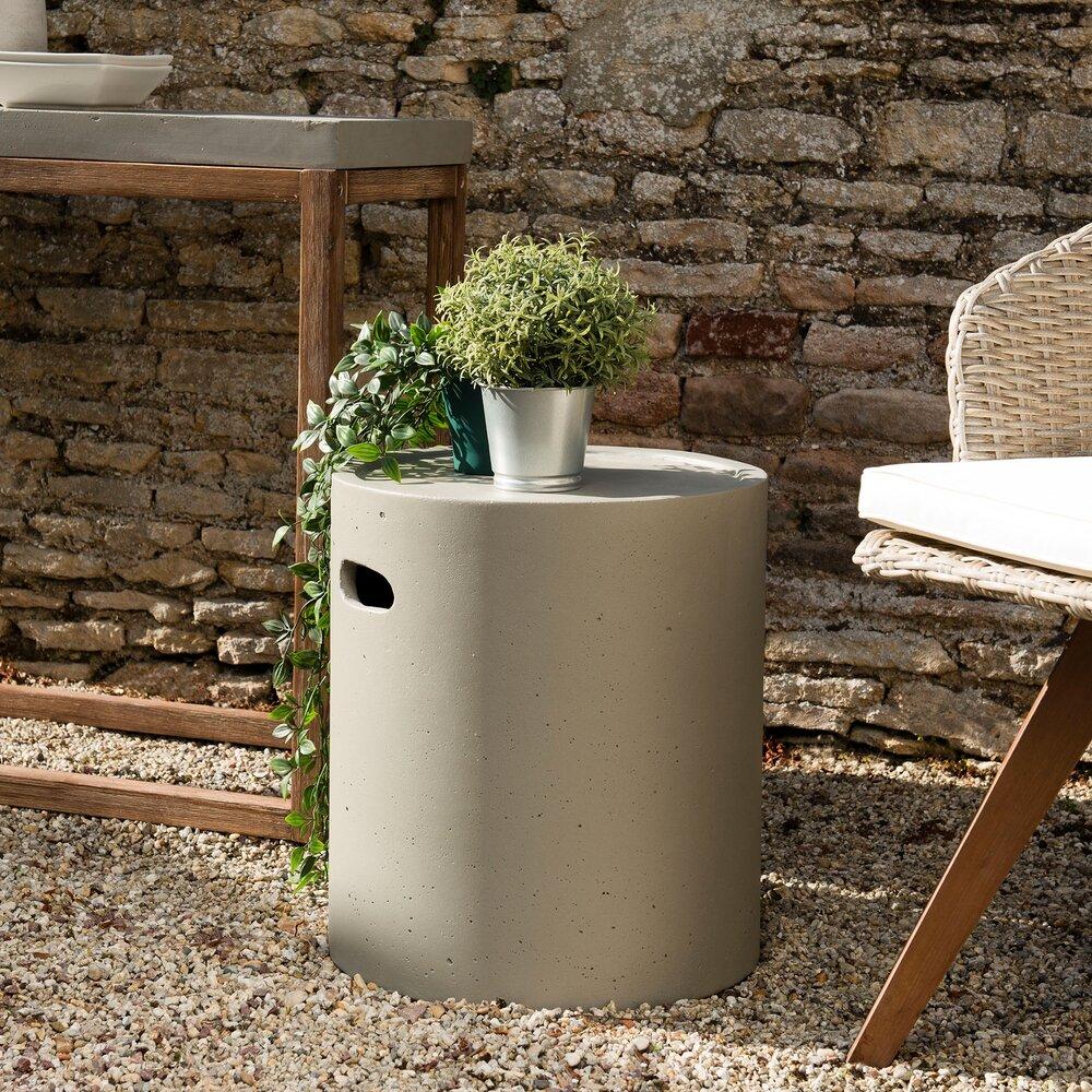 Meuble de jardin - Table d'apoint ronde 40 cm en béton - BETTY photo 1