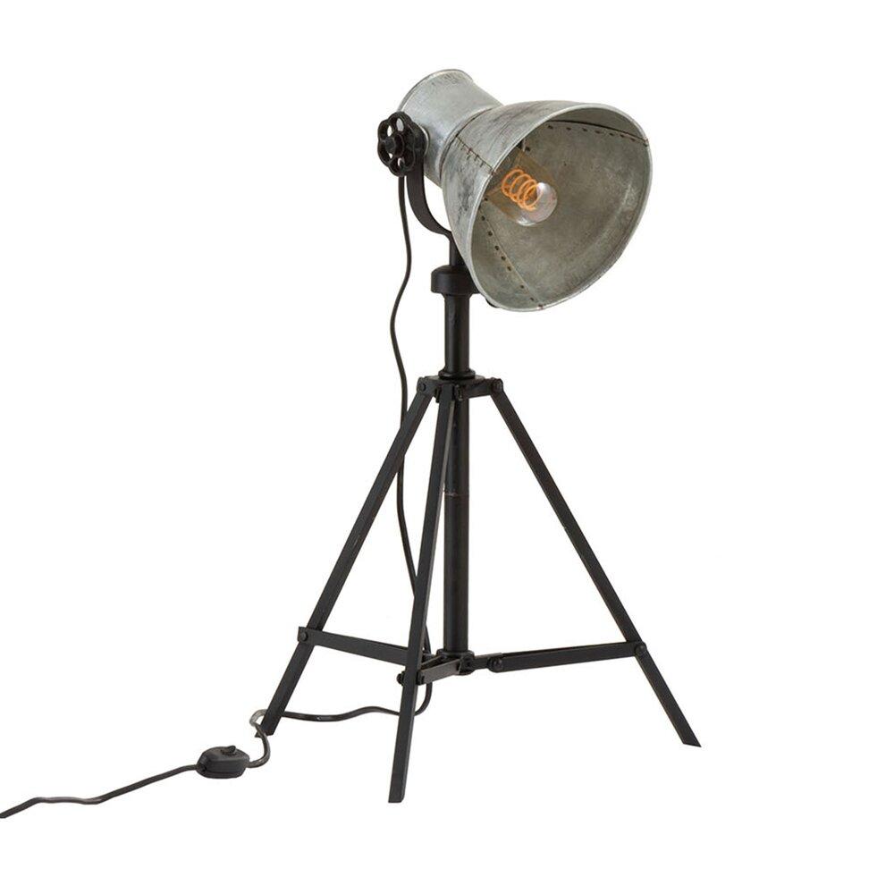 Luminaire - Lampe de table industrielle 33x33x82 cm métal gris et noir photo 1