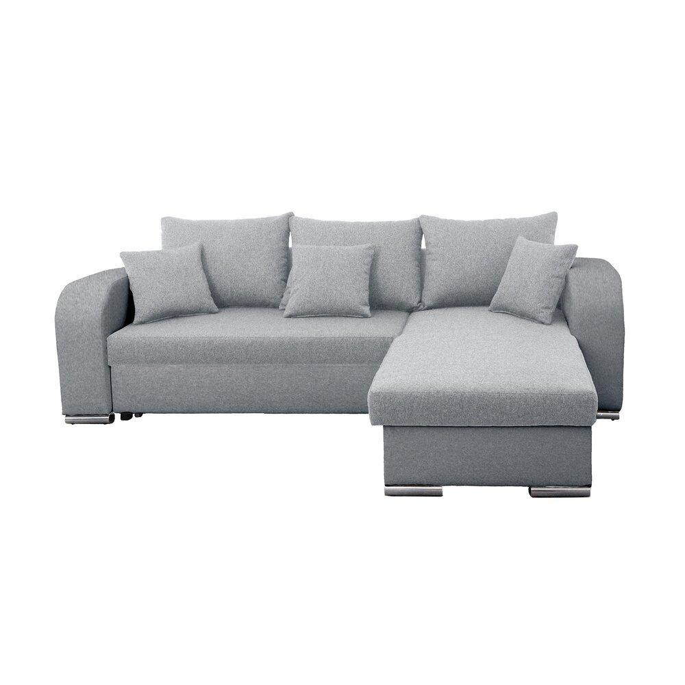 Canapé - Canapé angle à droite convertible en tissu gris clair - FULLSPACE photo 1