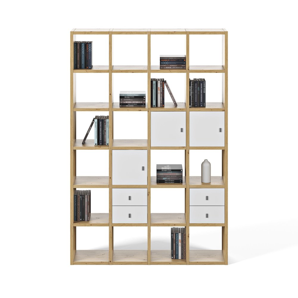 Bibliothèque - Etagère - Etagère 151x34x224 cm décor chêne vernis - VICTOR photo 1