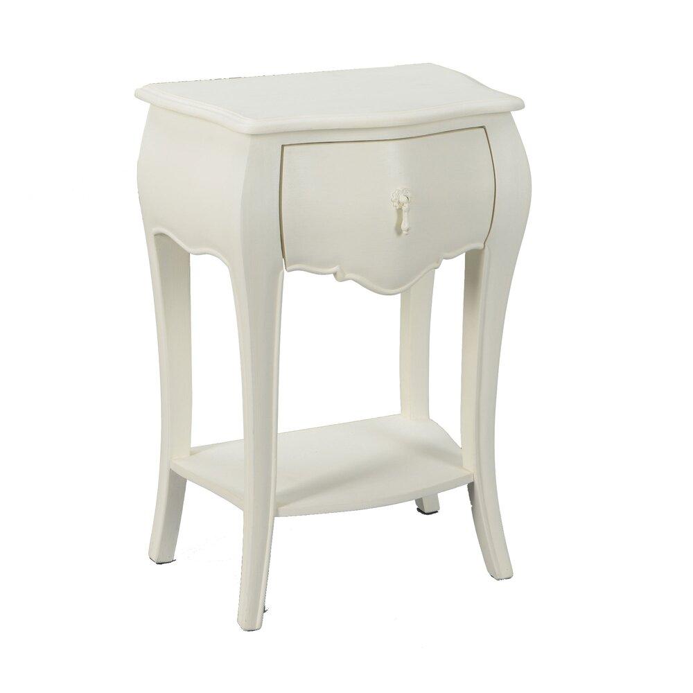 Chevet - Chevet 1 tiroir en bois blanc - CHARMY photo 1