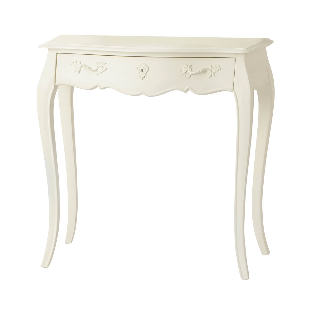 Bureau - Bureau 1 tiroir 80 cm en bois blanc - CHARMY BLANC photo 1