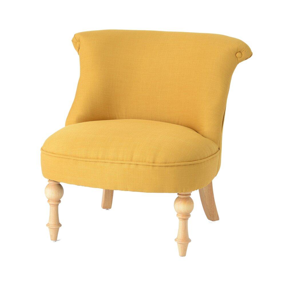 Fauteuil - Fauteuil 68x68,5x70 cm en tissu jaune photo 1