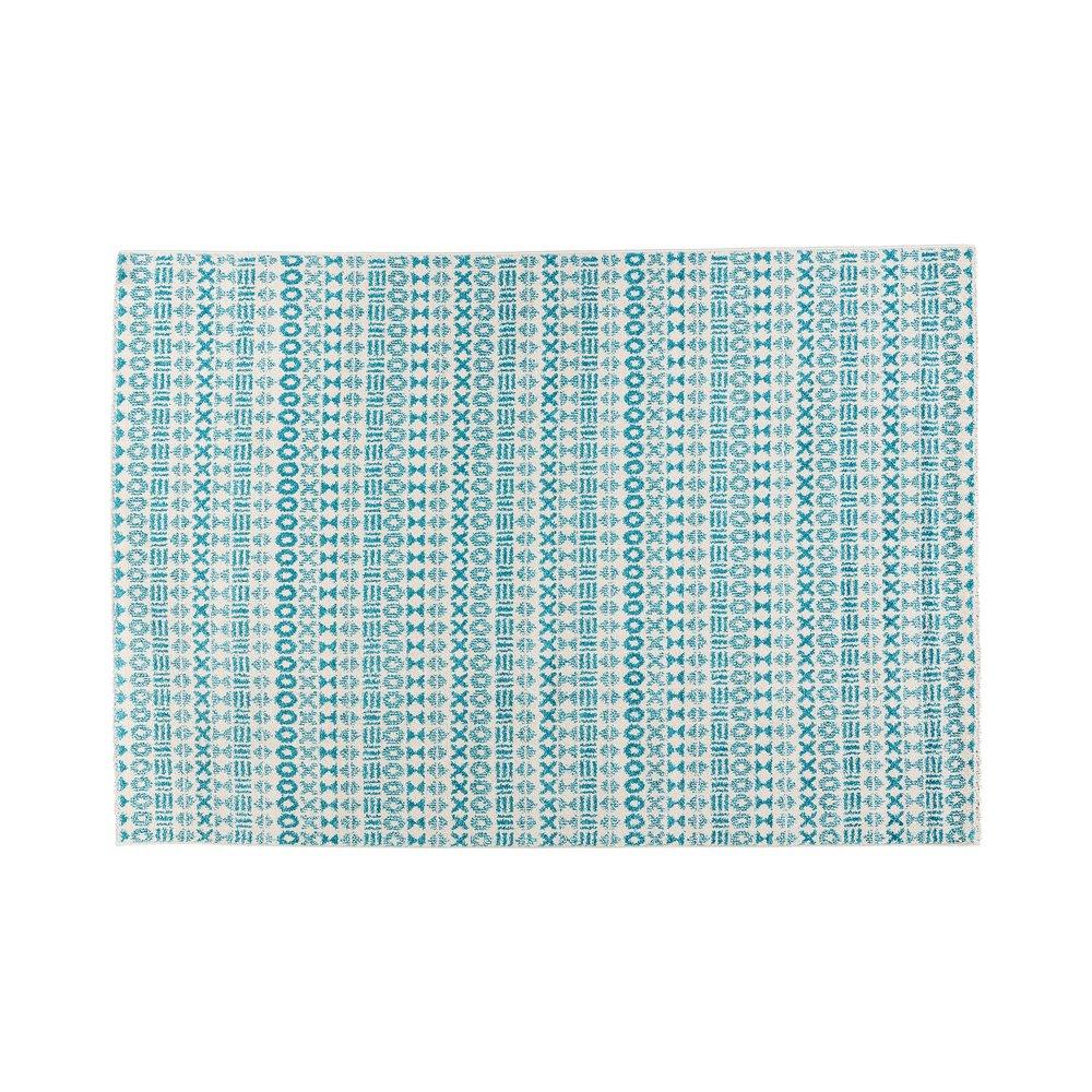 Tapis - Tapis 230x160 cm en tissu nuances de bleu photo 1