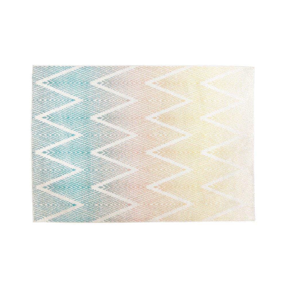 Tapis - Tapis 230x160 cm motifs chevrons en tissu multicolore photo 1