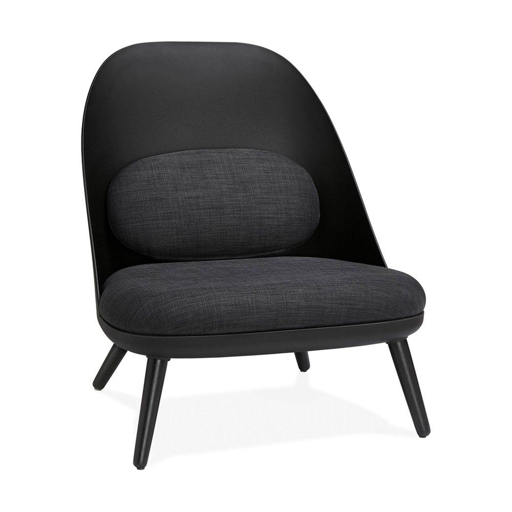 Fauteuil - Fauteuil 74x66x76 cm avec coussin noir photo 1
