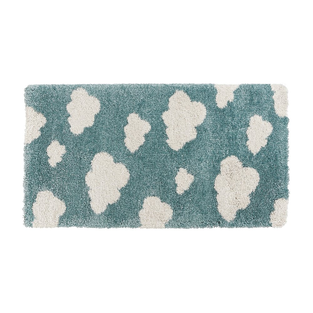 Tapis - Tapis 150x80 cm bleu avec nuages blancs photo 1