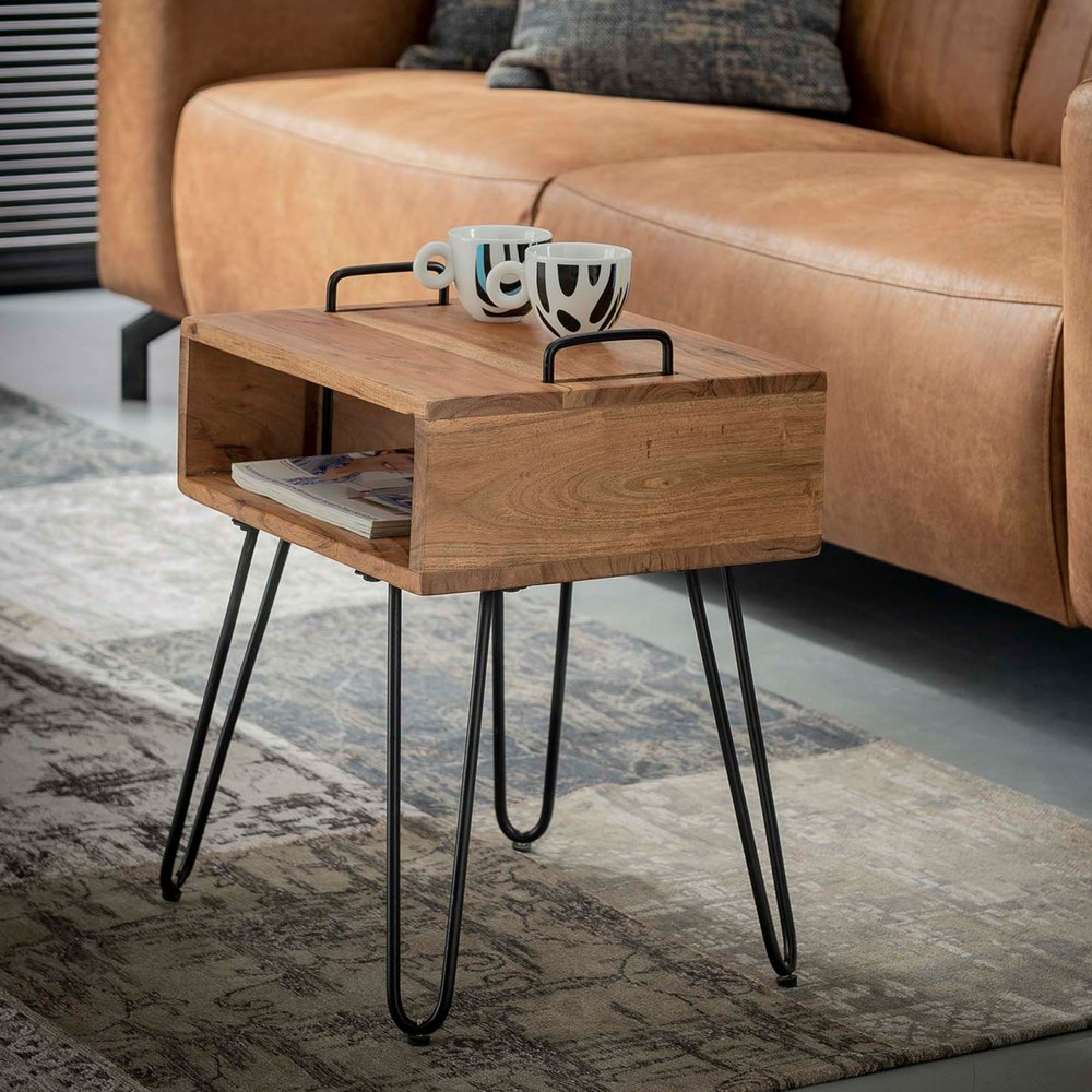 Table basse - Table d'appoint 40x34x48 cm en acacia massif - IOANIS photo 1