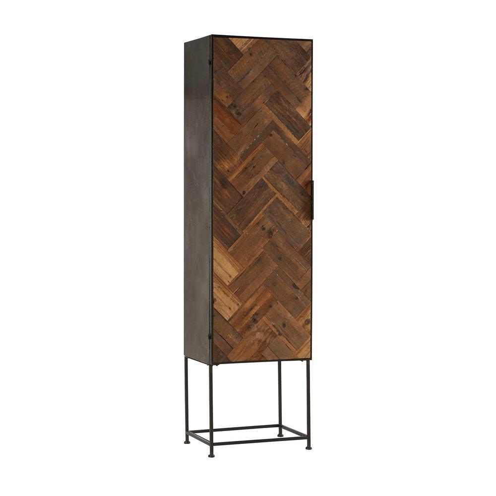 Armoire - Armoire 1 porte 56x44x211 cm en bois et métal photo 1