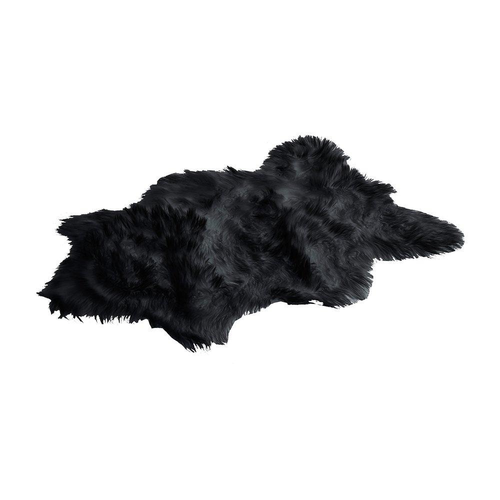 Tapis - Tapis effet peau 68x100 cm noir photo 1