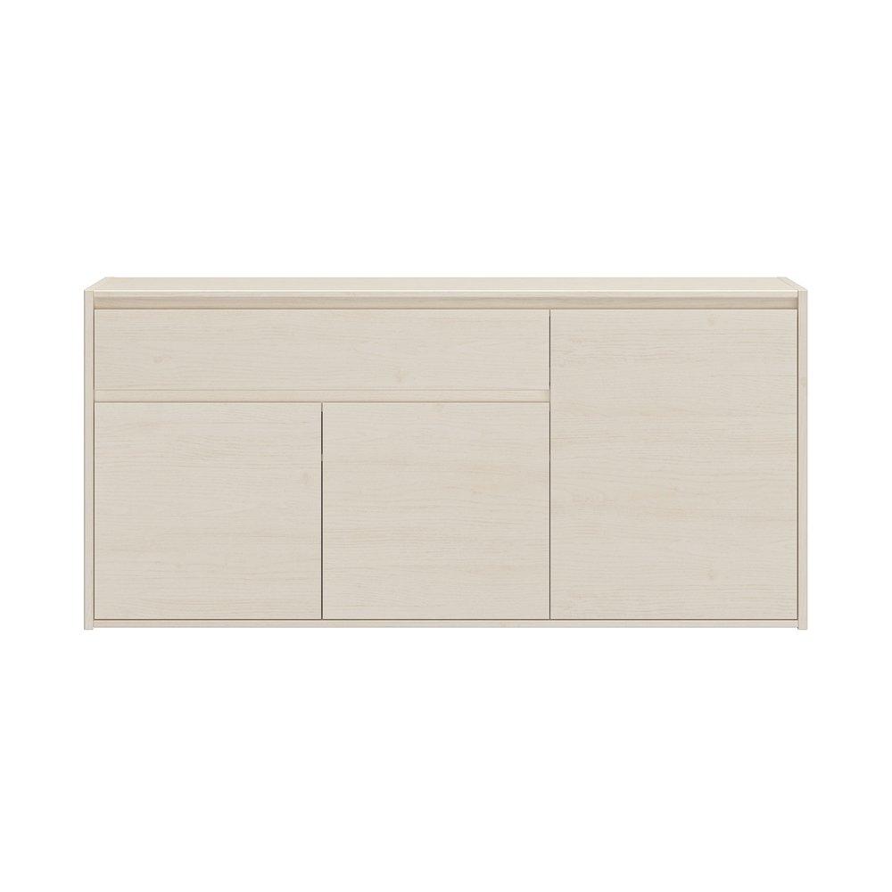 Buffet - vaisselier - Buffet 3 portes et 1 tiroir 170x45x80 cm décor chêne clair - ENZI photo 1