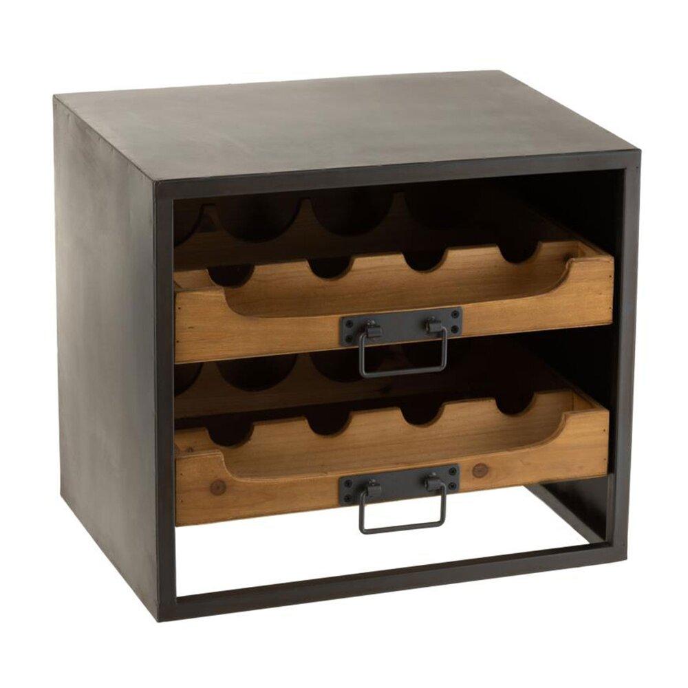 Bar - Meuble range bouteilles 43,5x35x38 cm en bois et métal - FREESIA photo 1