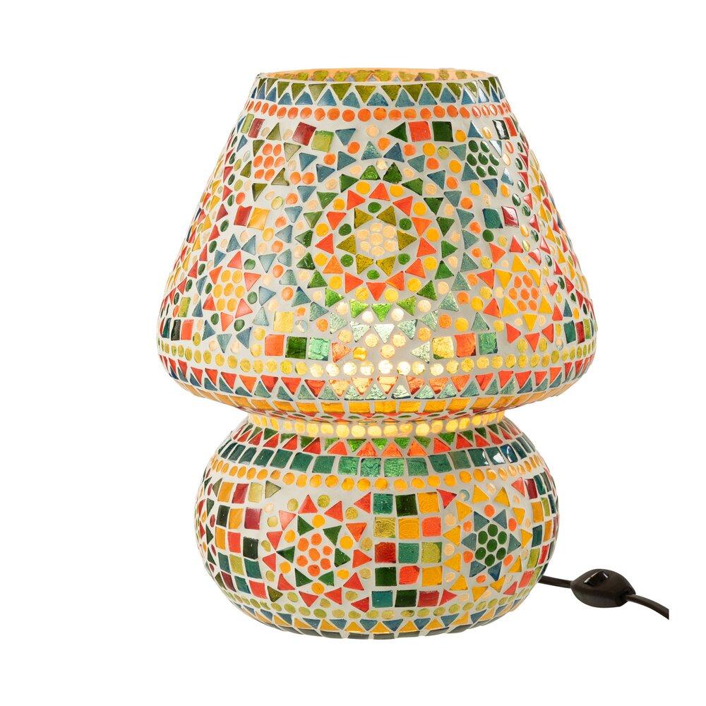Lampe De Table 26x26x31 Cm En Mosaique Multicolore Maison Et Styles