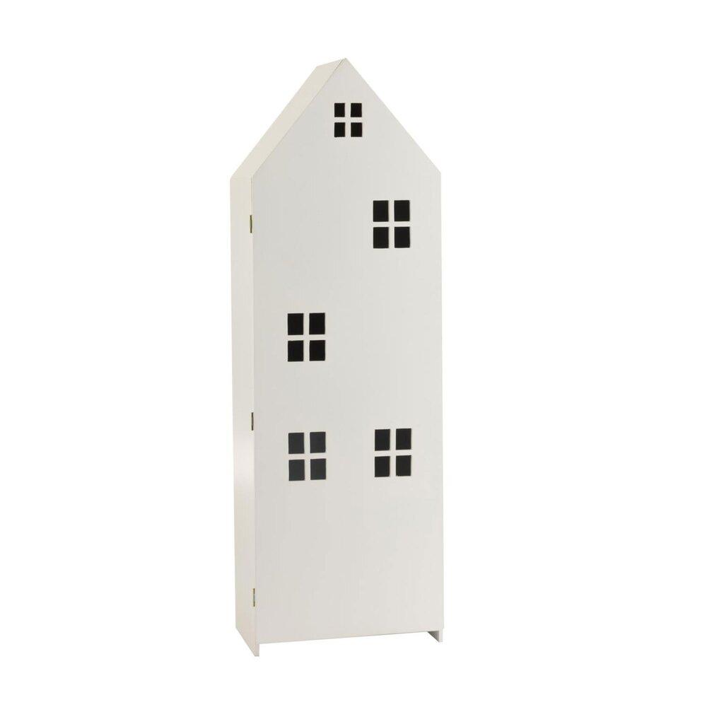 Chambre enfant - Meuble de rangement enfant forme maison 40x26x123 cm blanc photo 1