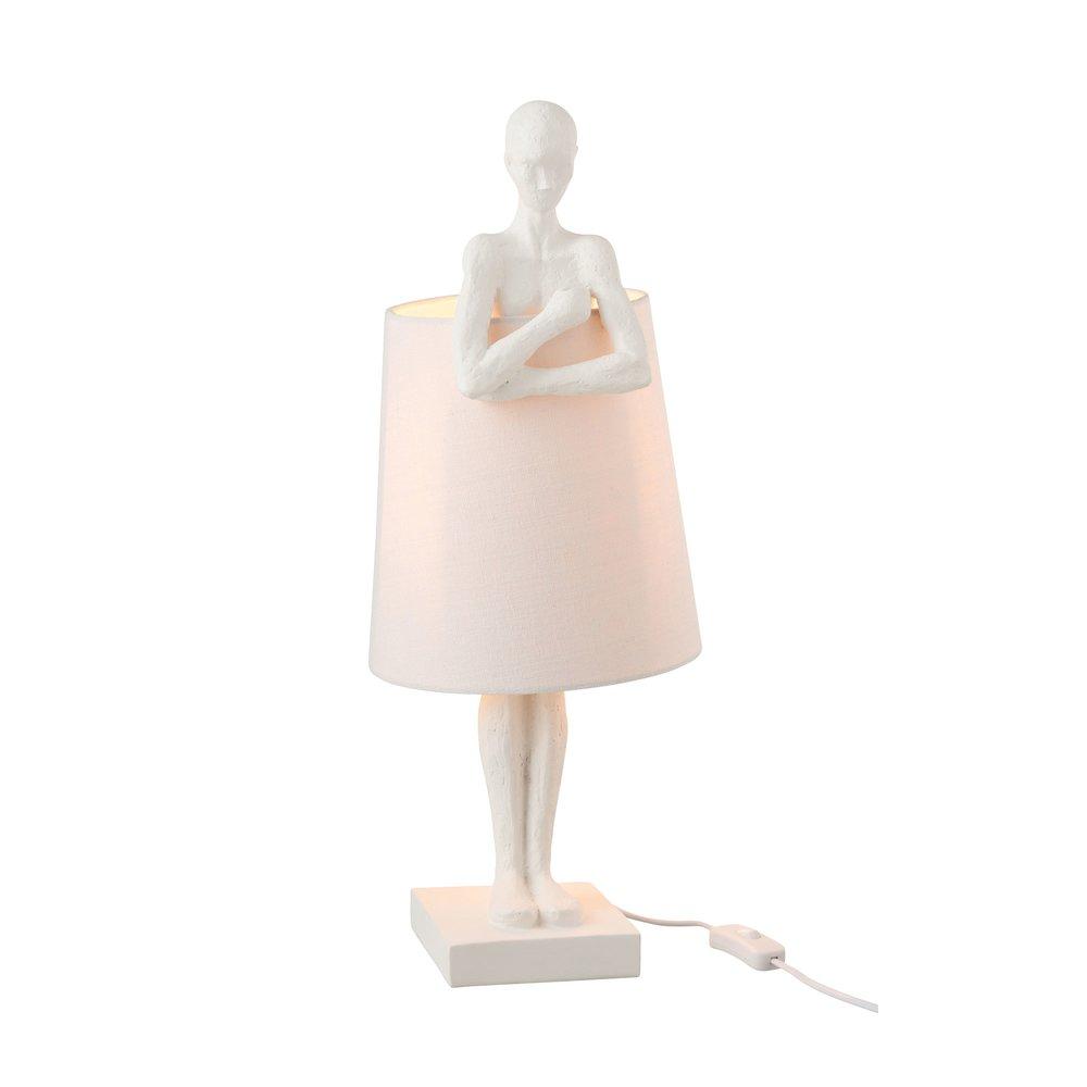 Luminaire - Lampe de table avec figurine en résine blanche photo 1