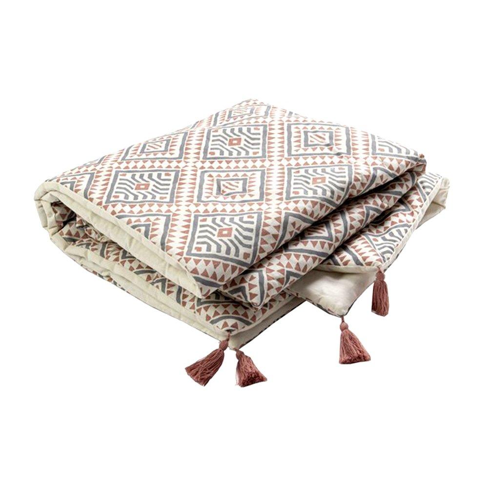 Couvre-lits et accessoires - Bout de lit avec pompons 190x90 cm en coton - DIAMY photo 1