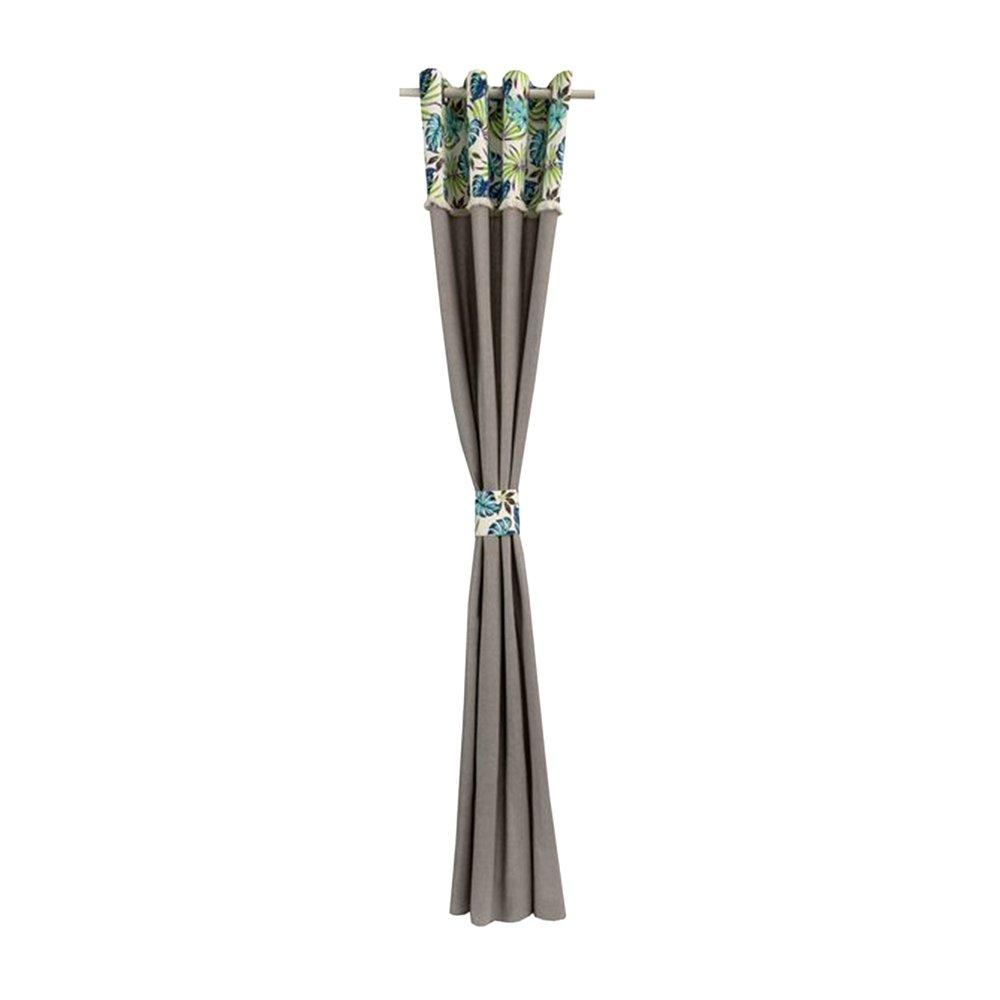 Rideaux - Rideau à œillets 135x260 cm en motif exotique - EXOBLEU photo 1