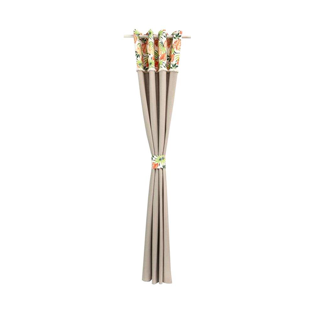 Rideaux - Rideau à œillets 135x260 cm en motif exotique - EXOCORAIL photo 1