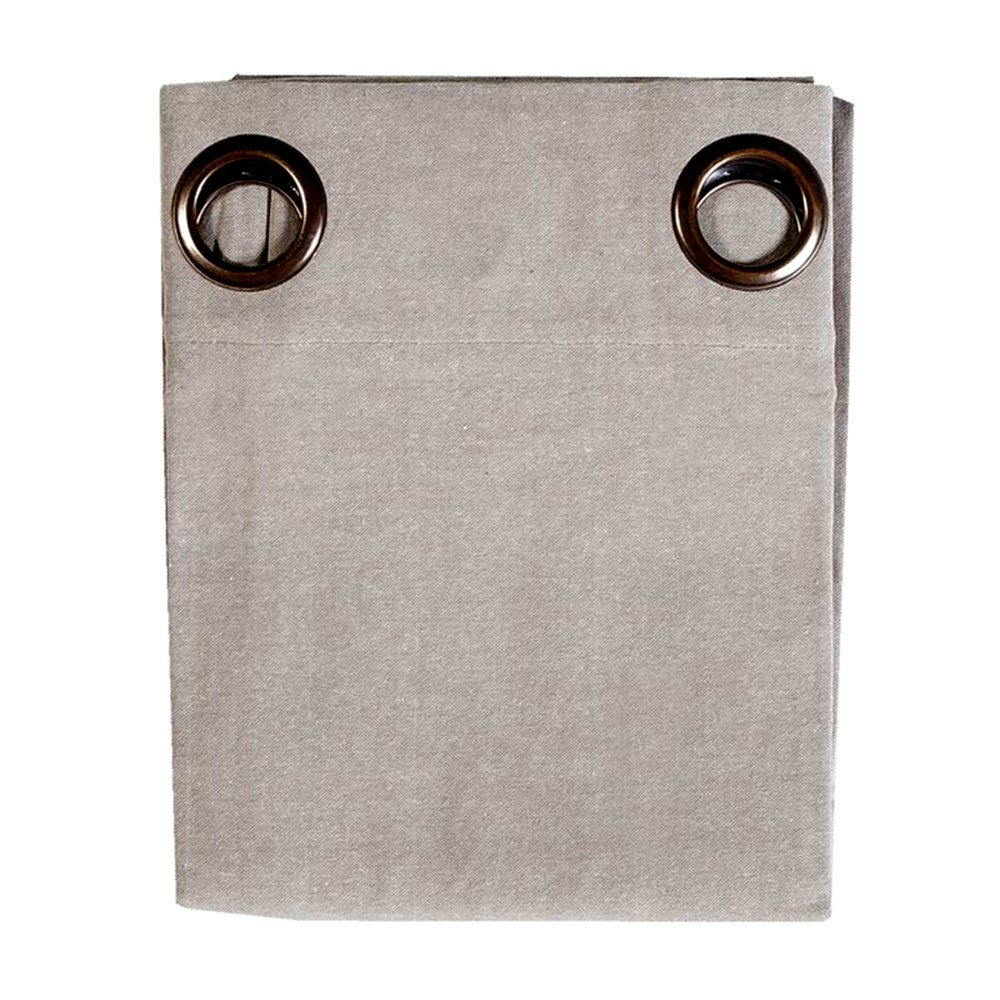 Rideaux - Rideau à œillets 135x250 cm en coton gris clair - YUNI photo 1