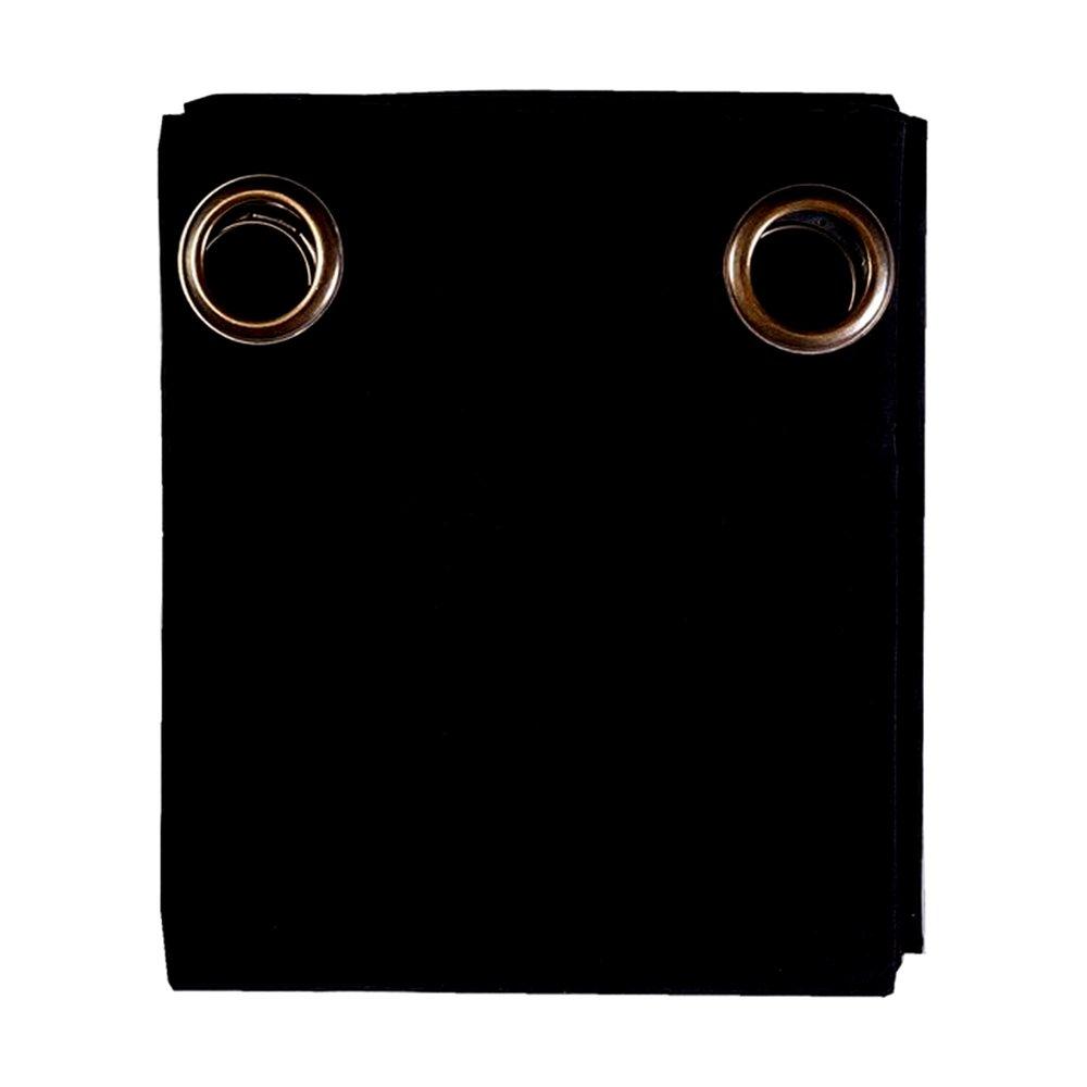 Rideaux - Rideau à œillets 135x250 cm en coton noir - YUNI photo 1