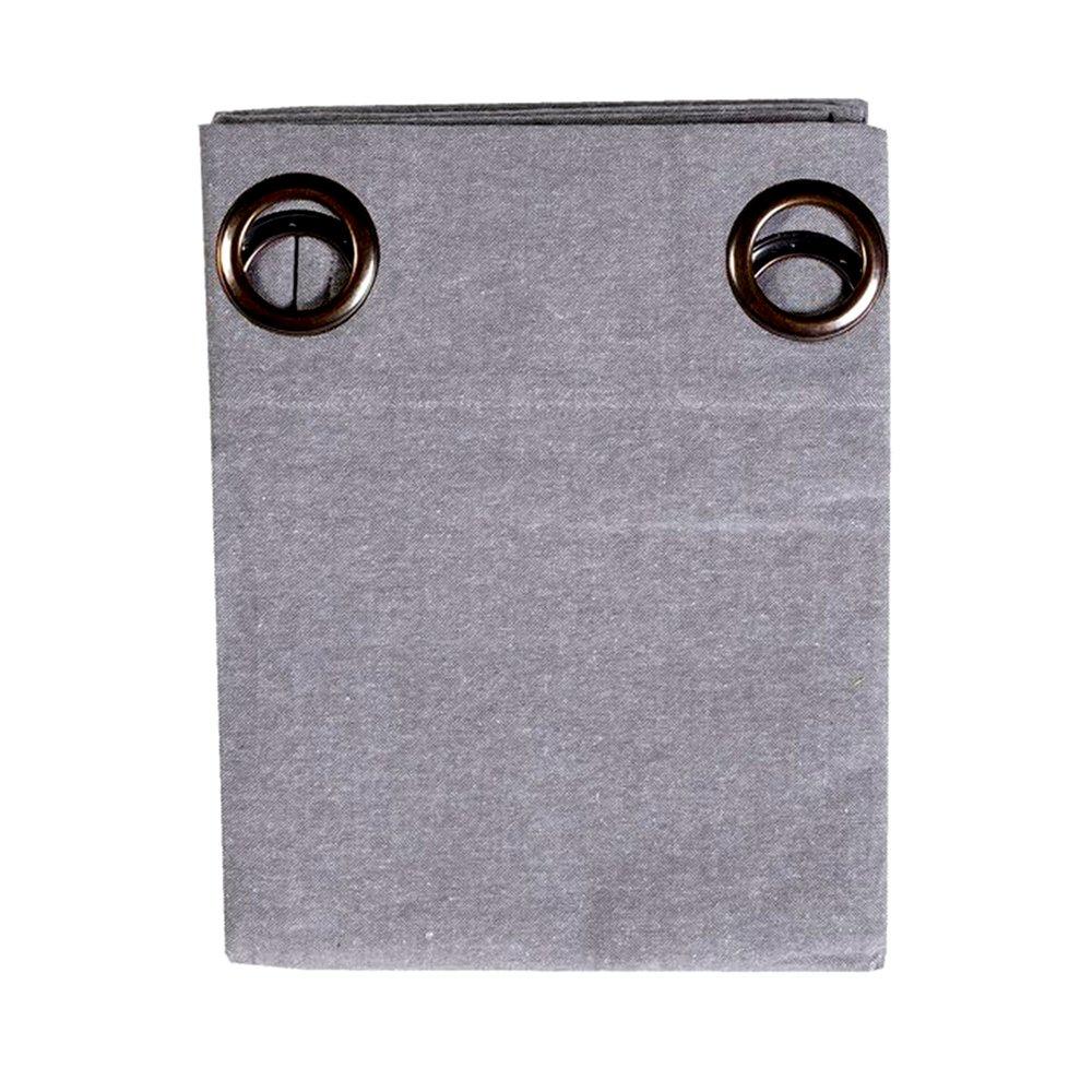 Rideaux - Rideau à œillets 135x250 cm en coton gris - YUNI photo 1