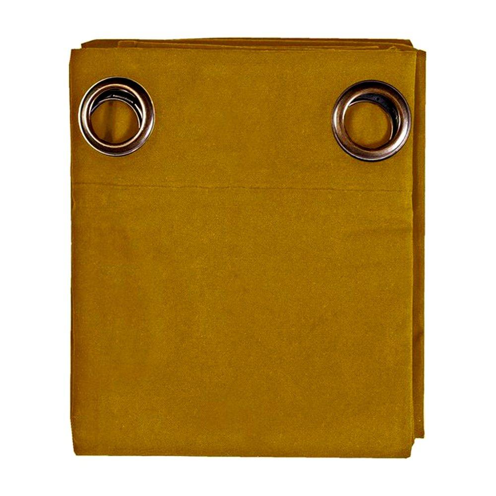 Rideaux - Rideau à œillets 135x250 cm en coton curry - YUNI photo 1