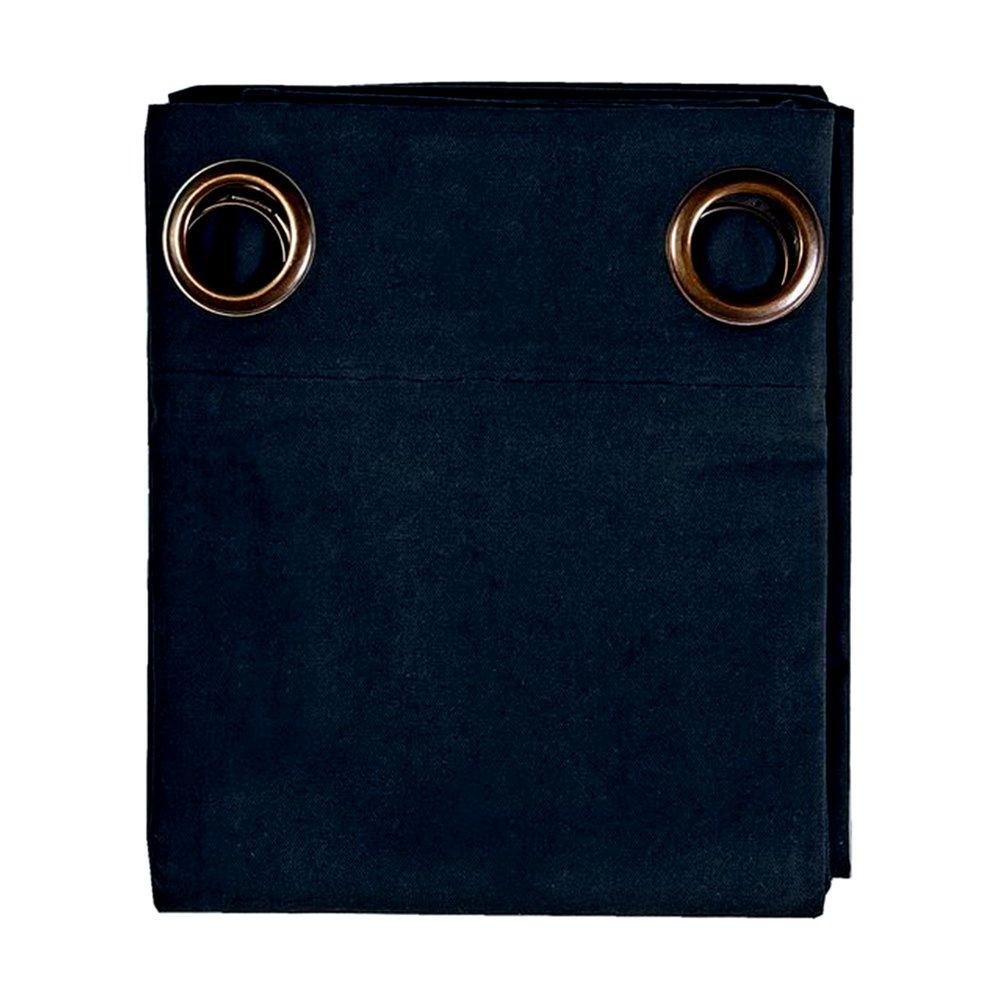 Rideaux - Rideau à œillets 135x250 cm en coton bleu foncé - YUNI photo 1