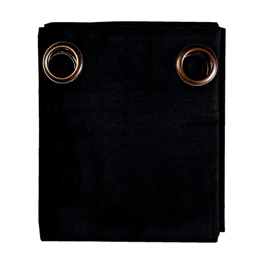 Rideaux - Rideau à œillets 135x250 cm en coton anthracite - YUNI photo 1