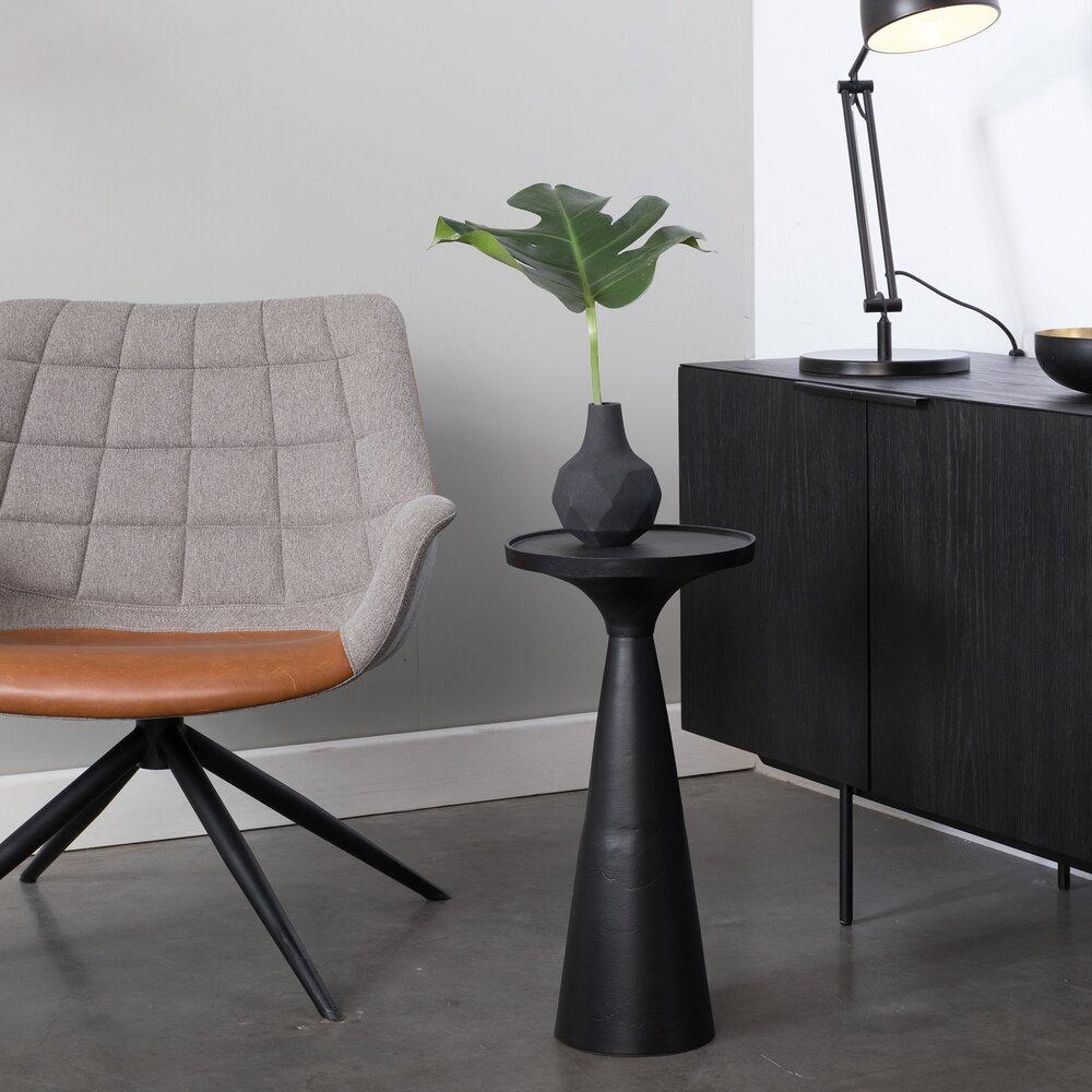 Table basse - Table d'appoint ronde 28 cm en aluminium noir - FLOSS photo 1