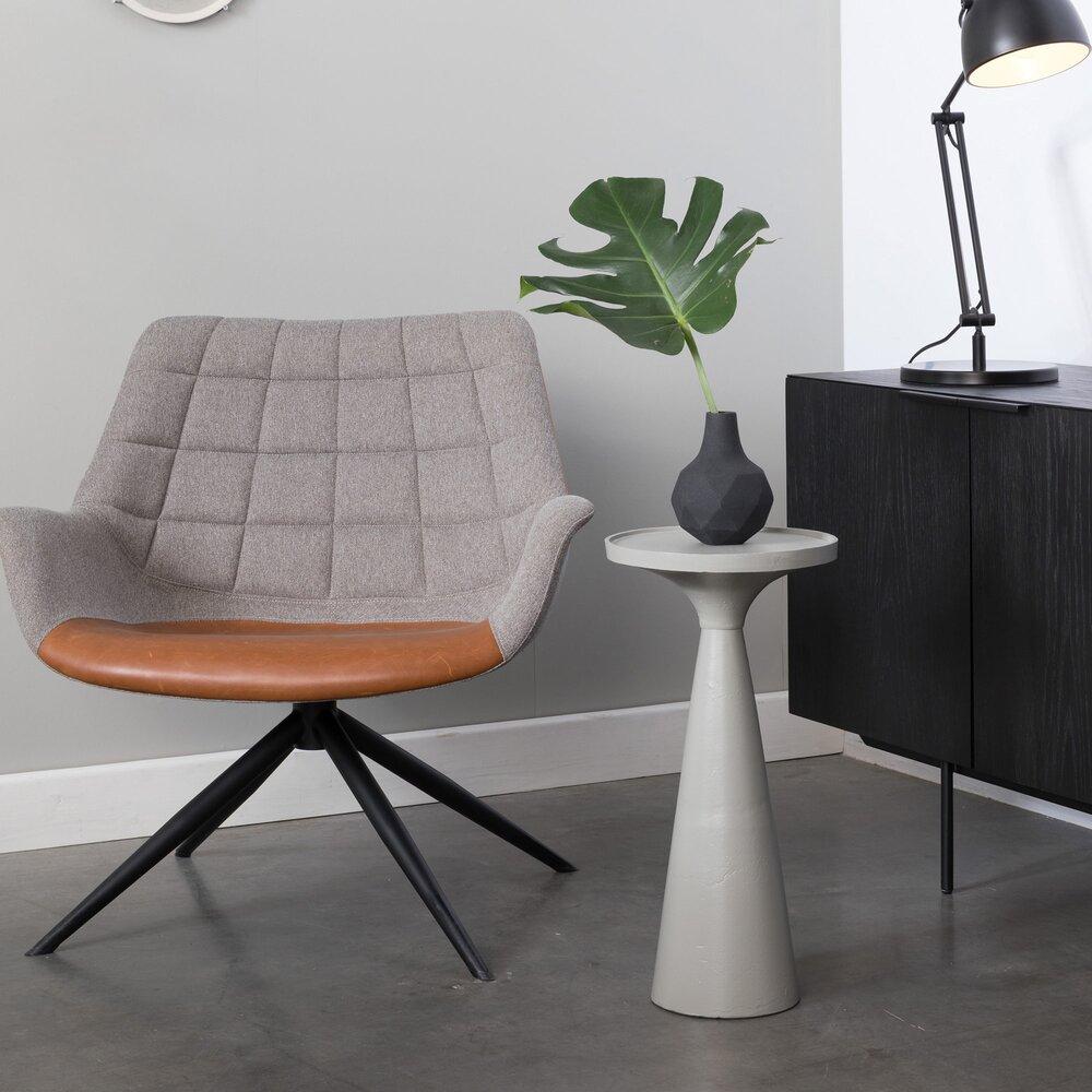 Table basse - Table d'appoint ronde 28 cm en aluminium gris - FLOSS photo 1