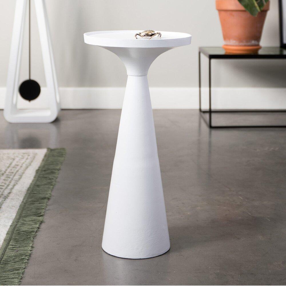 Table basse - Table d'appoint ronde 28 cm en aluminium blanc - FLOSS photo 1