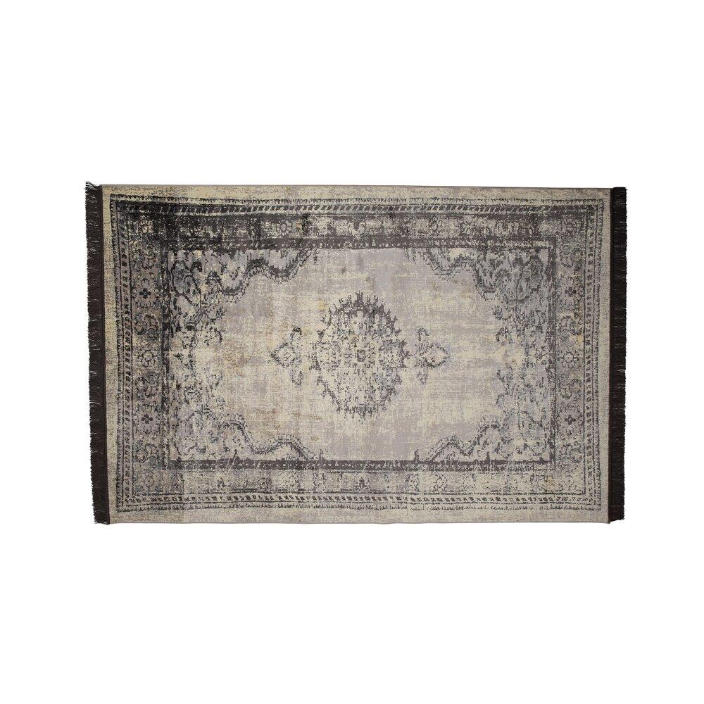 Tapis - Tapis 170x240 cm avec franges gris photo 1