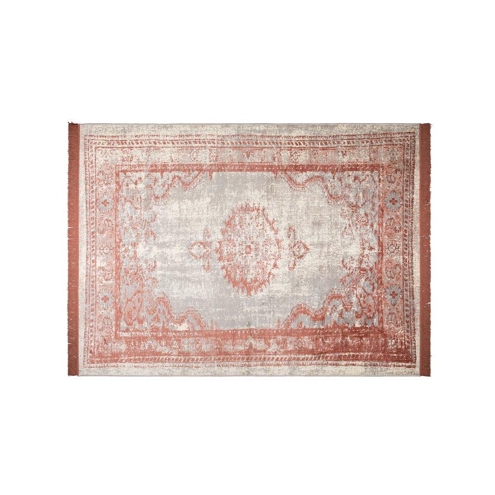 Tapis - Tapis 170x240 cm avec franges rose photo 1