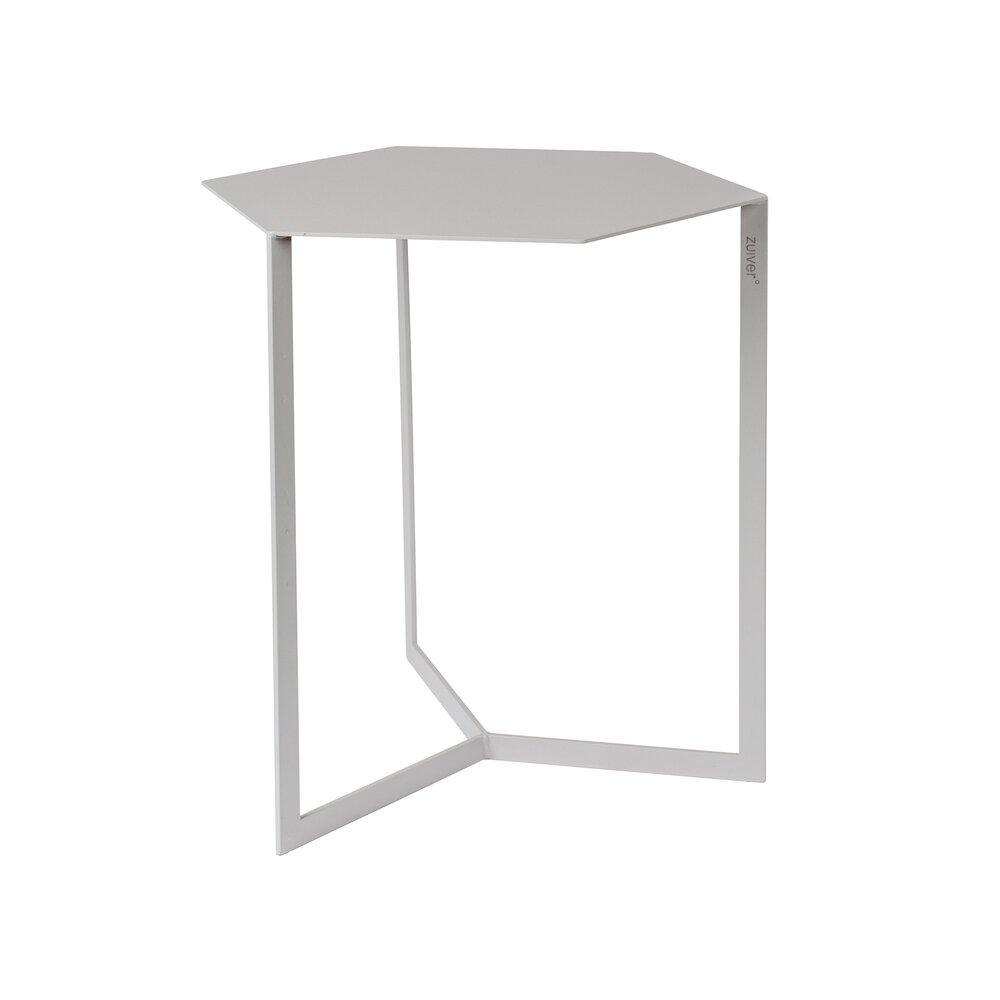 Table basse - Table d'appoint 38x45x45 cm en métal gris - MATRIX photo 1