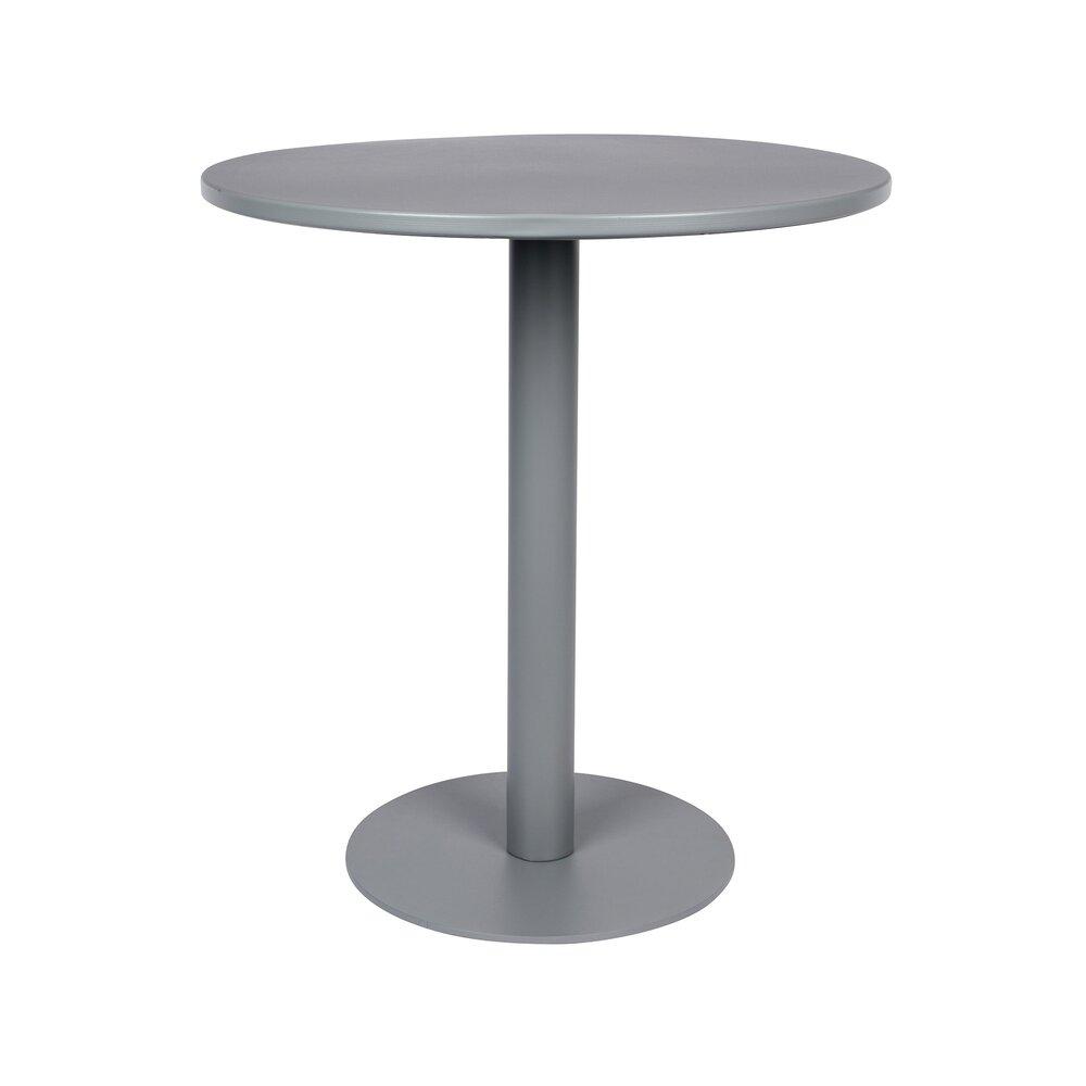 Table - Table bistot ronde 70x76 cm en métal gris - METSU photo 1