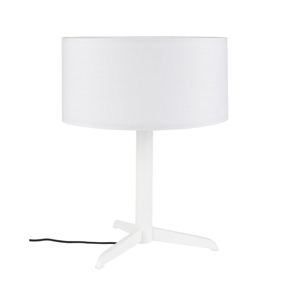 Luminaire - Lampe de table 36x48 cm en tissu et métal blanc - SHELBY photo 1