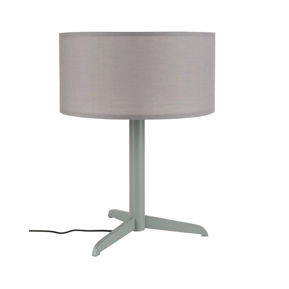 Luminaire - Lampe de table 36x48 cm en tissu et métal gris - SHELBY photo 1