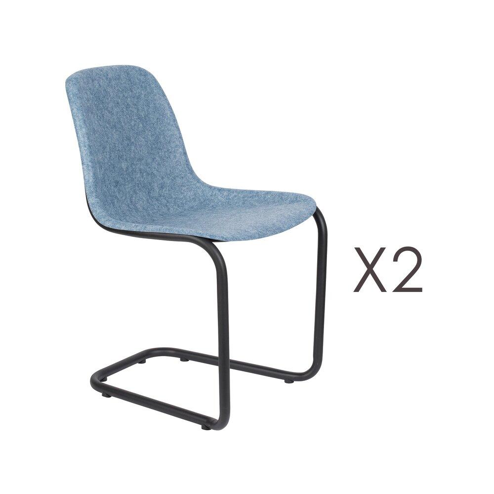 Chaise - Lot de 2 chaises 52x55x78,5 cm bleu - THIRSTY photo 1