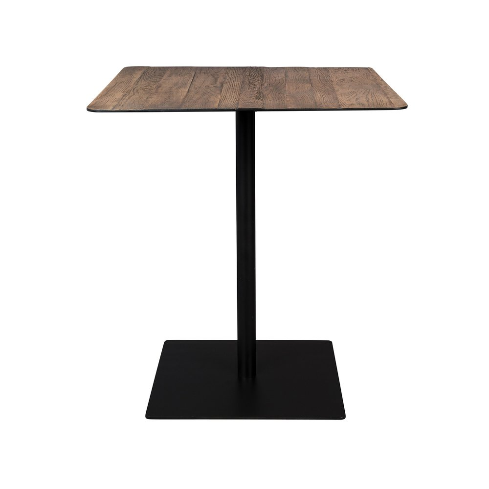 Table - Table carrée 70x93 cm décor chêne et métal - BRAZA photo 1