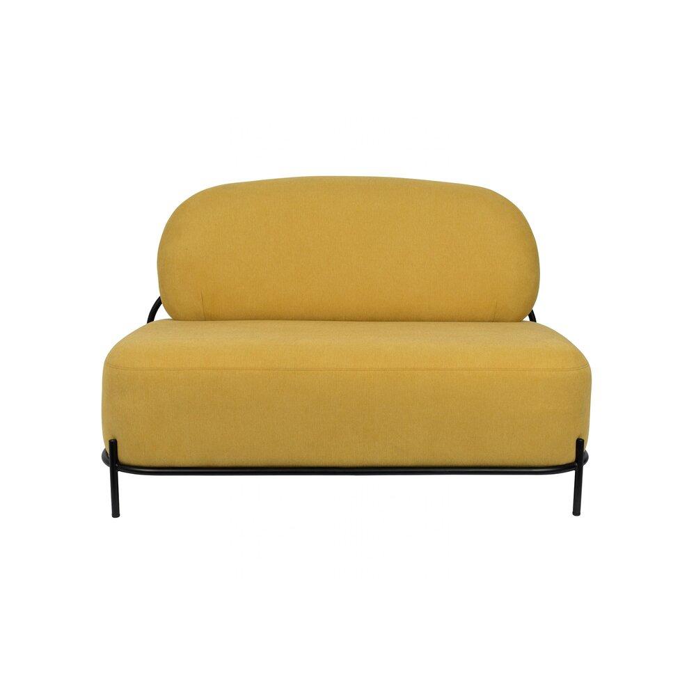 Canapé - Canapé 125x71,5x77 cm en tissu jaune - CELLO photo 1