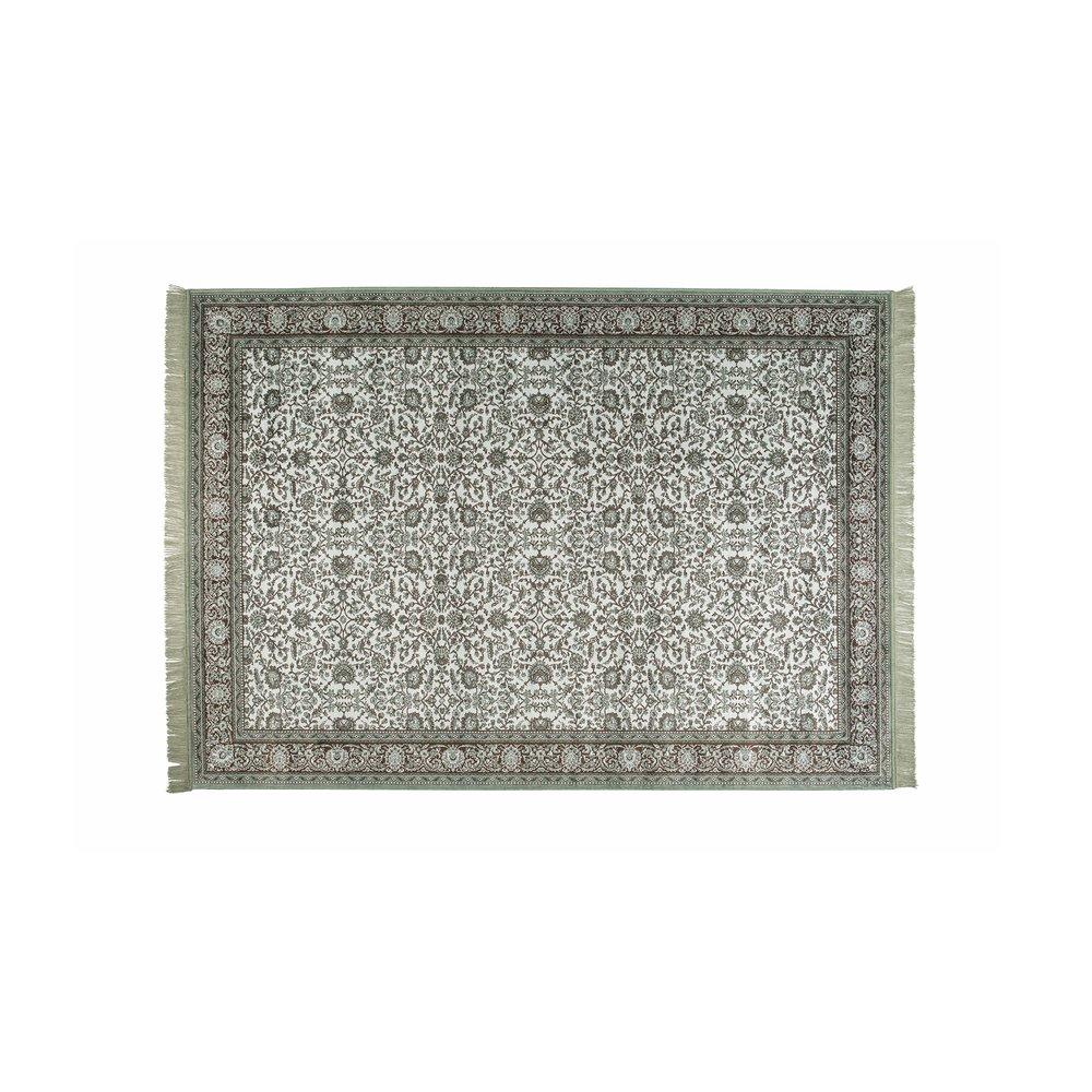 Tapis - Tapis avec franges 160x230 cm en tissu vert photo 1