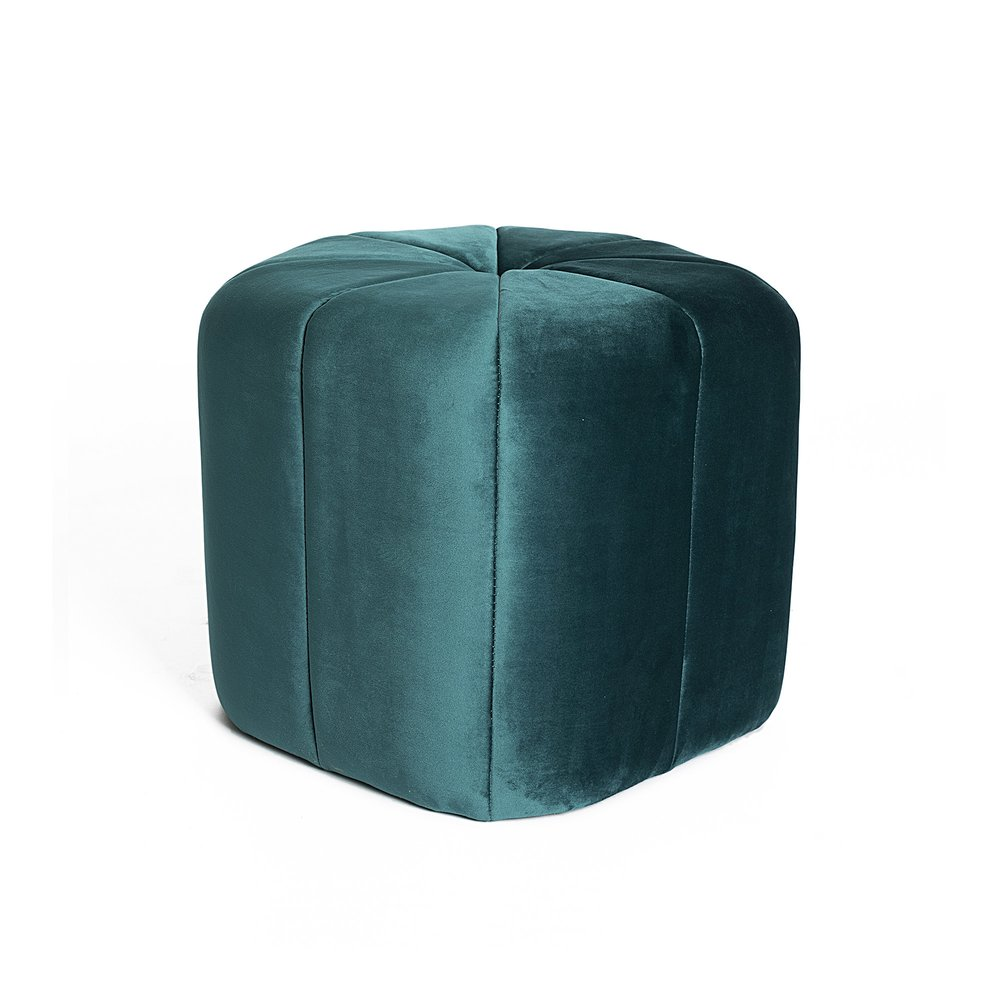 Pouf - Pouf 46x40 cm en tissu bleu photo 1