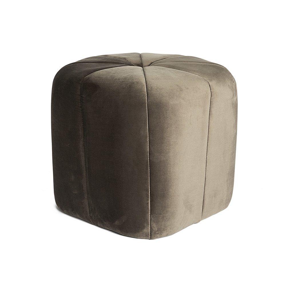 Pouf - Pouf 46x40 cm en tissu gris photo 1